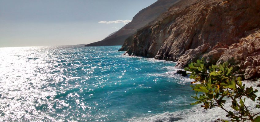 Yoga on Crete beach